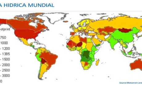 mapa huella hidrica mundial