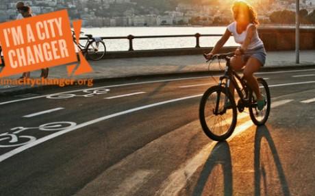 ciclista en ciudad