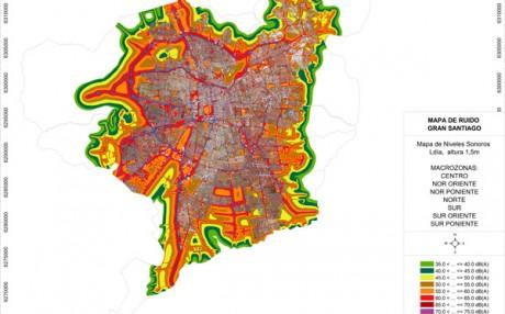 mapa de ruido de Santiago