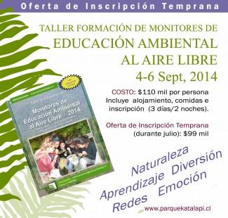 Afiche educación ambiental al aire libre